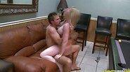 Hunter give blondie MILF Shawnie a taste of his cigar