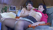 Kathleen&Rolf pantyhose mom on video