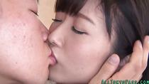Cute asian gets facial