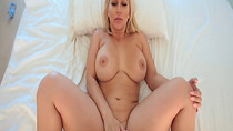 Horny Mama fingering her pussy while getting fuck