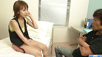 Yui Misaki young hottie sucks cock with passion