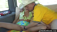 While being chauffeured down a public highway, the adorable slutty teens, Catalina and