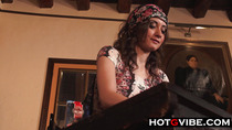 Gypsy Brunette Squirting Voyeur