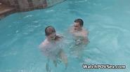 Flawless wet gf fucked in pool
