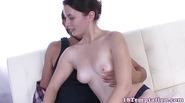 Stepsister jerking cock while fingered