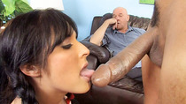 Chelsie Rae Gets Her Pussy Stretched By A Big Black Cock In Front Of Ger perky