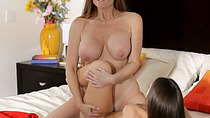 Older chick having a lesbian adventure with housemaid