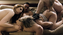 Maya performs blowjob and fucking to her new family