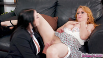 Angela fingering and eating out Penny's pussy