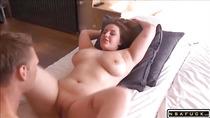 Horny chubby gf sucking cock fucking part 1