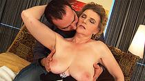 big boob chubby moms first tit job