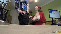 LOAN4K. Agent screws busty redhead Isabella Lui because she really needs money