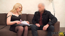 Debt4k. Pretty Maria Hurricane lassie seduces loan agent for crazy sex to close her debt