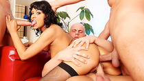 Team Fucks Girl - Cock Hungry Tera Joy Gets a DP Gangbang by Three Bald Men