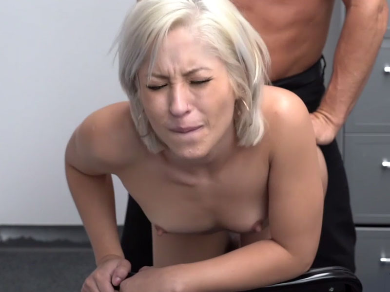 Skinny blonde fucks her way out of trouble