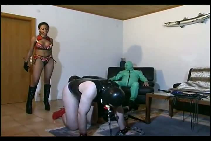 Bdsm Hottie Plays With Her Hot Slave