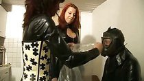 Two mistresses humiliating a slave