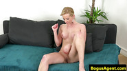 Casted amateur gets cum in mouth after sucking
