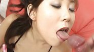 Sexy Japanese MILF Ren Asano gets face fucked deep