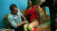 Hot threesome for a naughty girl
