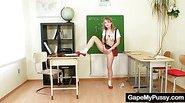 Teen school girl and teacher dirty pussy gaping