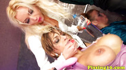 Lesbian eurobabes pissing all over each other