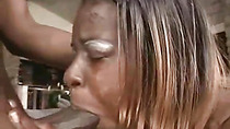 Black guy with huge dick fuck a fat black woman