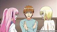 Beautiful anime girls wonderful threesome fuck