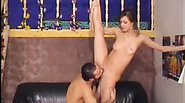 Erotic cutie has her vagina licked and fucked in ballet positions including doggy style!
