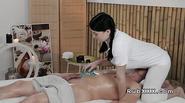 Stunning busty masseuse hard fucks