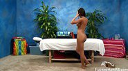 Rahynde seduced and fucked hard by her massage therapist