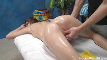 Cute 18 year old Gia Love seduced and fucked hard after her free massage!