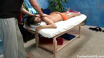 Amber Alexis seduced and fucked hard by her massage therapist