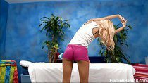 Erica seduced and fucked hard by her massage therapist