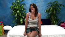 Brooklyn seduced and fucked hard by her massage therapist