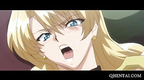 Hentai blonde double fucked in gangbang
