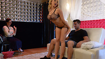 Kagney Linn Karter shows a couple what a real fuck is
