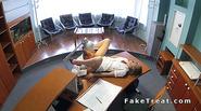 Sexy nurse fucks at reception desk
