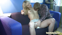 Cock Sucked By Blonde Teen Girlfriend
