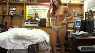 Sexy blonde chick gets a hard fuck and big cash in the pawnshop