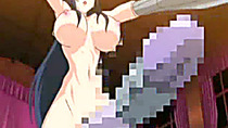 Busty hentai double penetration by shemale anime monster