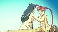 Hentai girls threesome lesbian sex