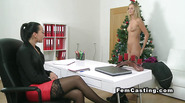 Female agent fingers blonde in xmas