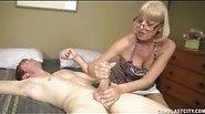 Granny Sucks Dick and Gets A Massive Facial
