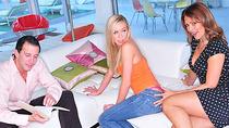 Mature couple seduces and fucks hard with lovely teen pornstar