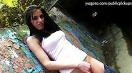 Czech girl Aneta flashes tits and fucked