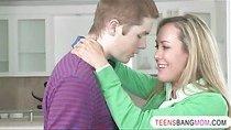 Pretty teen shares bfs cock to stepmom