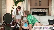 Nasty MILF Samantha Ryan loves threesome