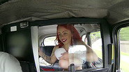 Tattooed amateur shows lovely tits and gets fucked in a taxi