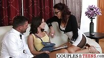 Hungry Teen in a Steaming Hardcore Threesome